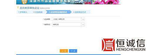 深圳商事登记-企业类型、组织形式